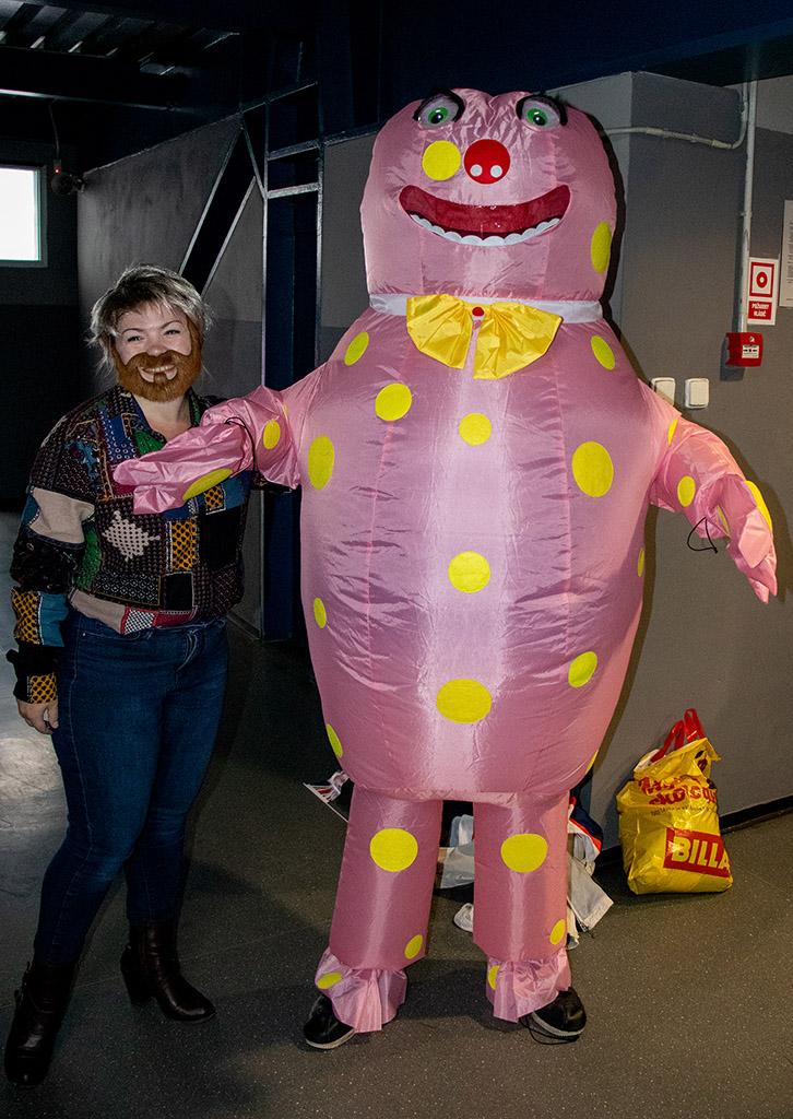Noel Edmunds with Mr Blobby